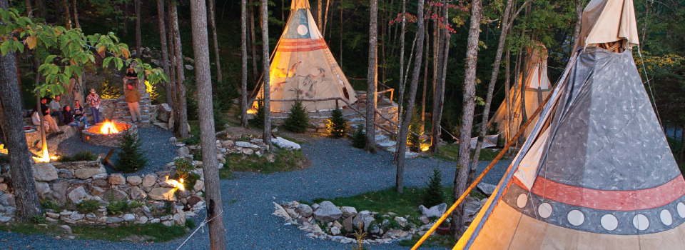 teepees at Eagles Nest