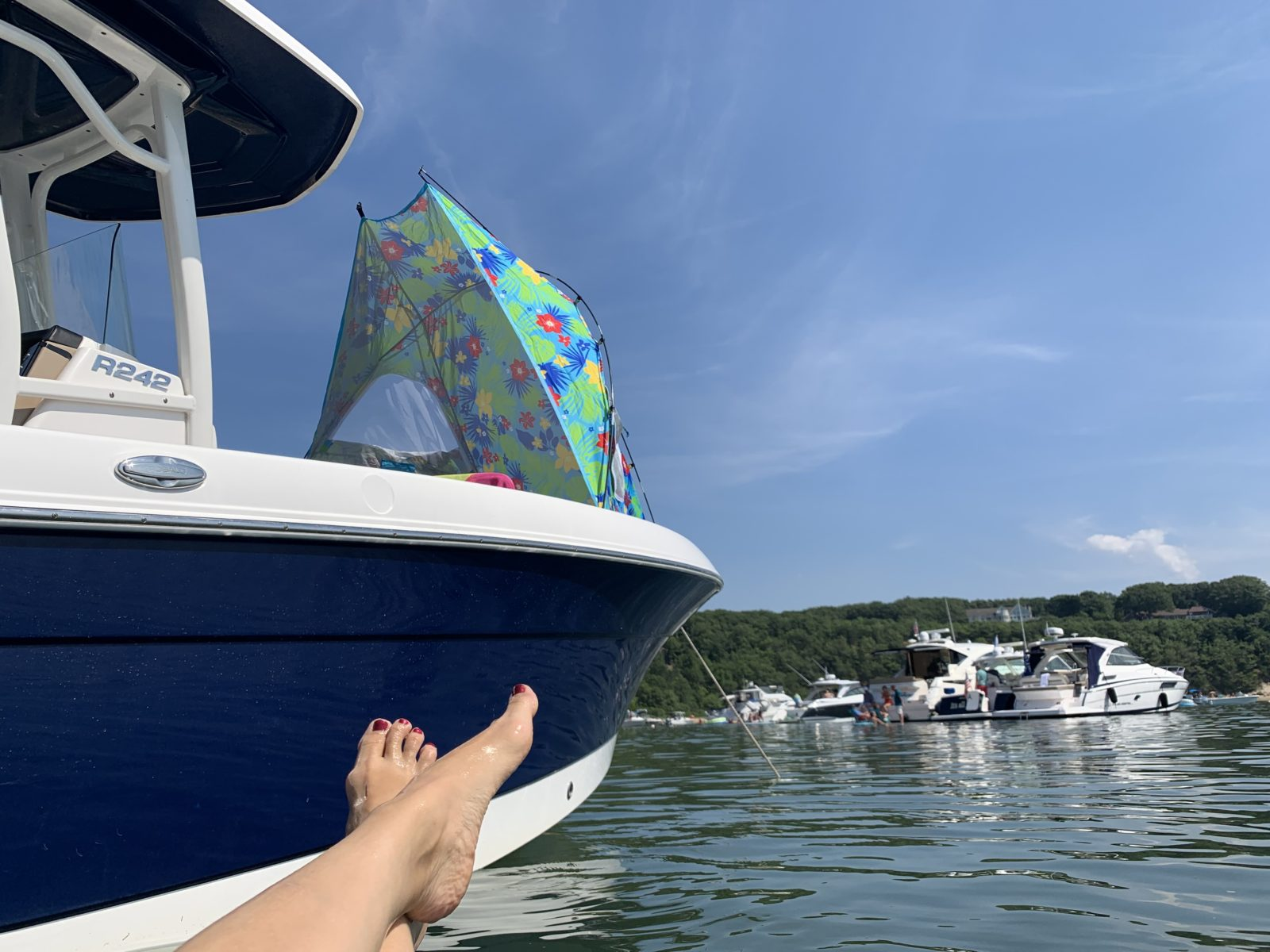 Just outside Port Jefferson Harbor, boaters can find a fun, socially distanced beach party.