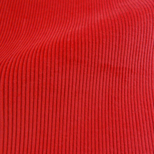 Theo | Campari - Bright Red Corduroy Fabric