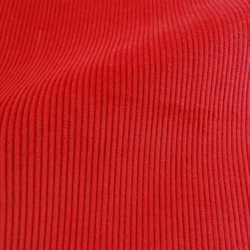 Theo   Campari - Bright Red Corduroy Fabric