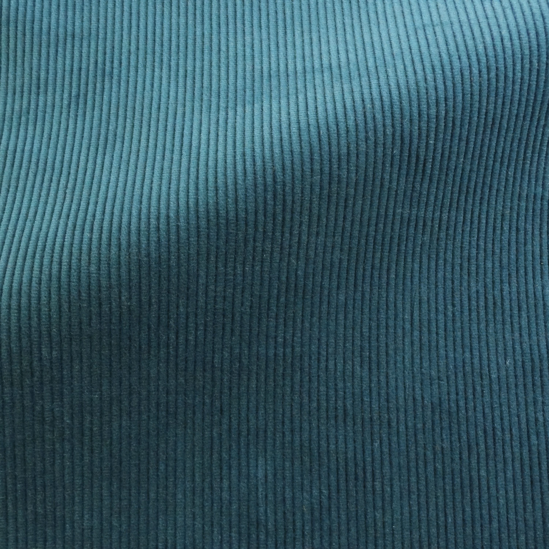Theo  Cyprus - Blue Corduroy Fabric