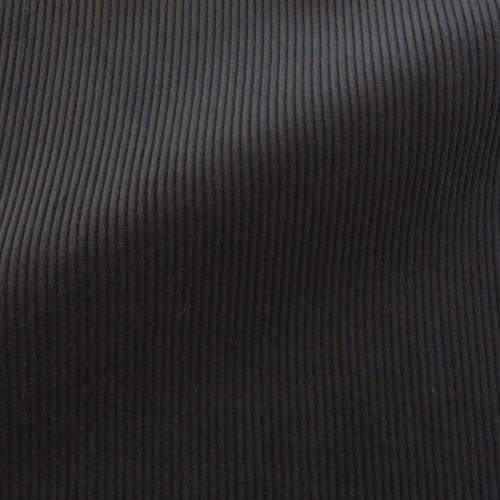 Theo | Raven - Black Corduroy Fabric
