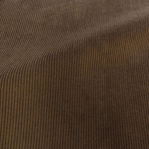 Theo   Walnut - Dark Brown Corduroy Fabric