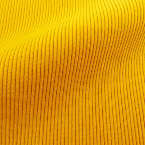 Theo   Yarrow - Bright Yellow Corduroy Fabric