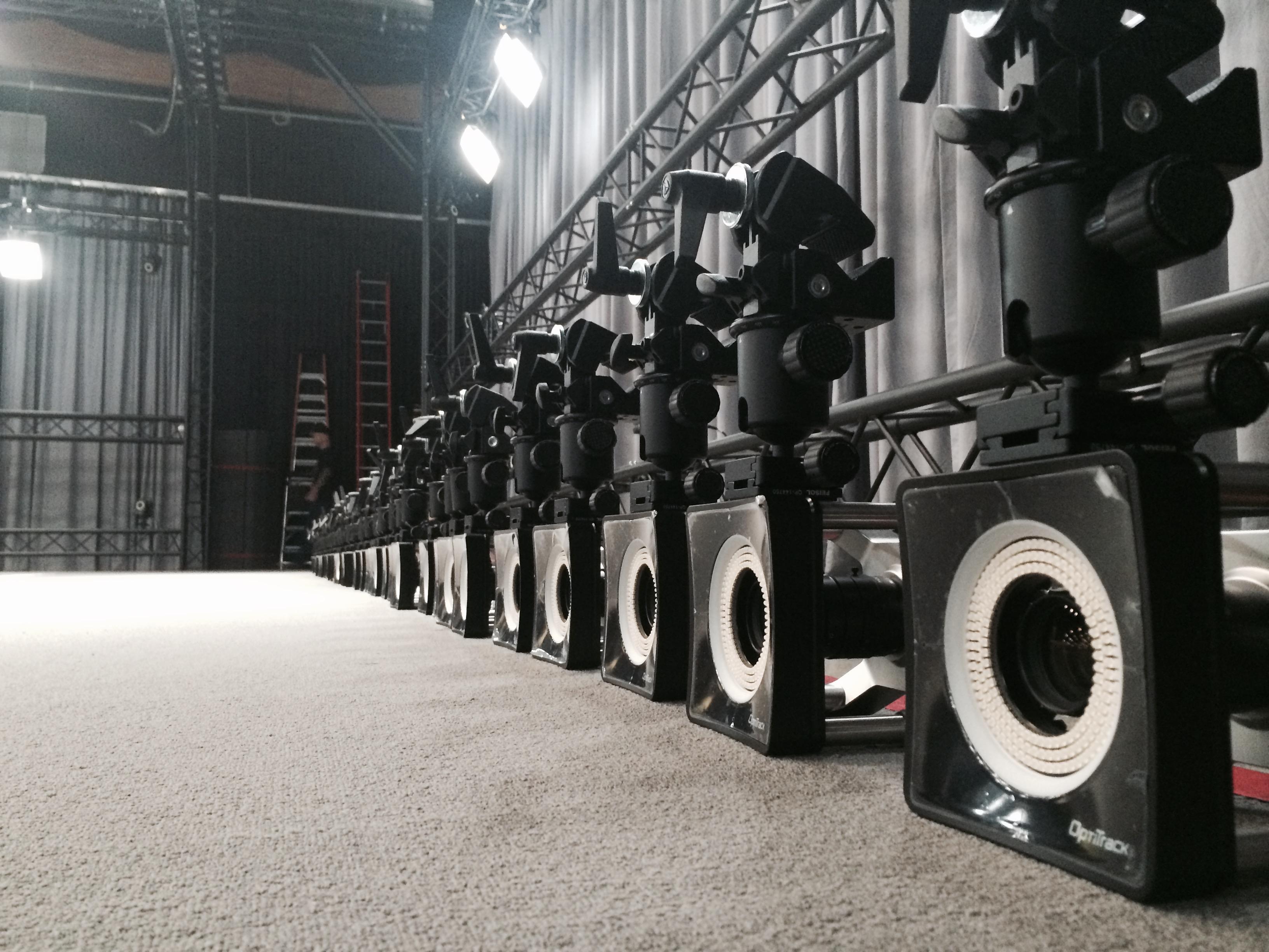 OPTITRAK motion capture cameras