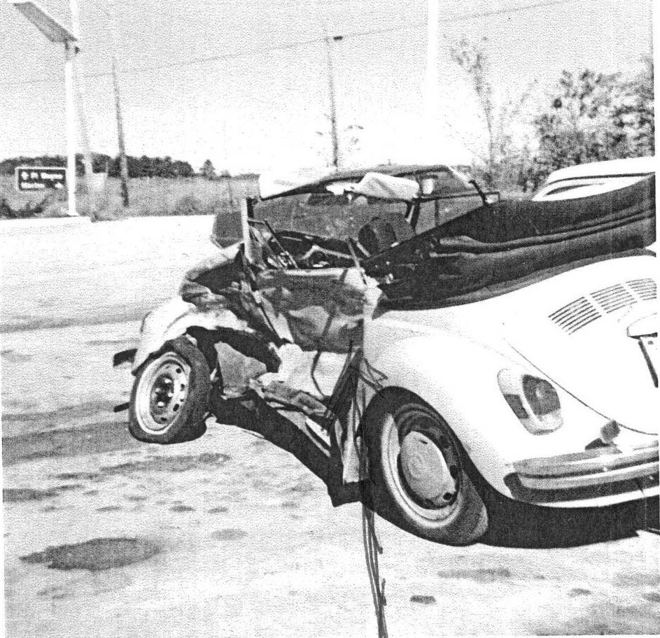 Personal Injury? Mike has experience as a victim of an accident, riding behind the driver of this VW bug in 1972. Fractured left femur, traction for two months, dangerous hematomas in right leg, and lots of PT.