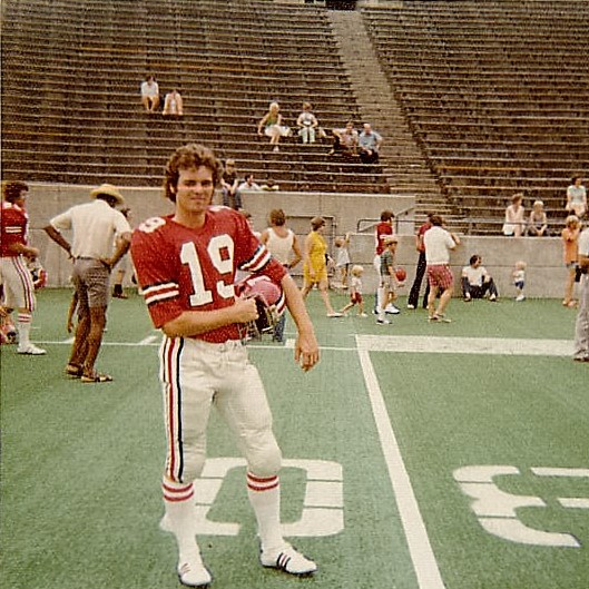 """Mike was a """"walk-on"""" at Indiana University under Head Coach Lee Corso as a Quarterback."""