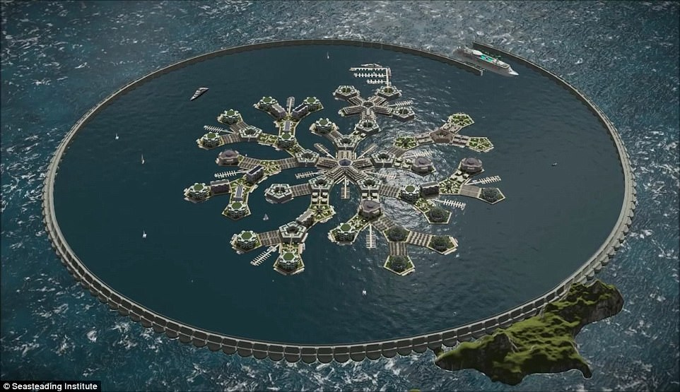 The world's first floating nation will appear in the Pacific Ocean by 2020