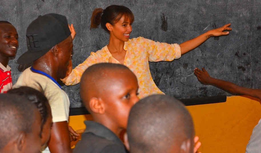 Sonia Rolland visits the Gisimba center for children