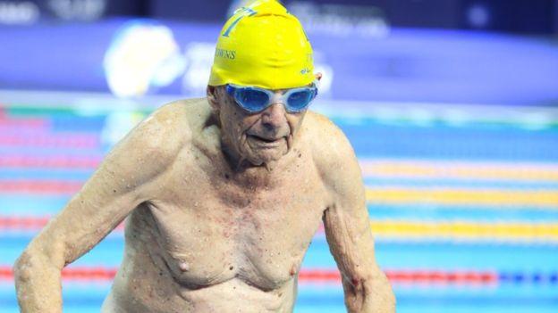 Swimmer, 99, 'breaks world record' in Australia
