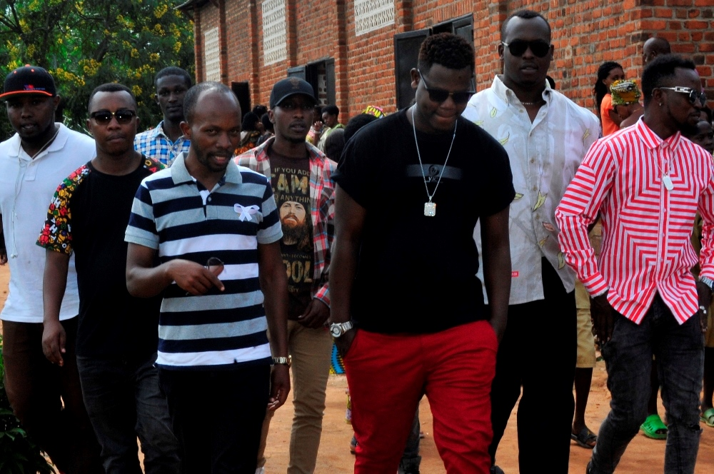 Bruce Melodie, Nizzo, Jay C…attended the burial ceremony of Mula's father