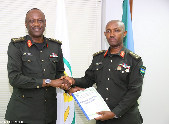 Maj Gen Muganga assumes office as the new Reserve Force Chief of Staff