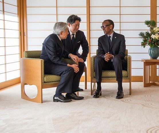 President Kagame met the Japanese Emperor Akihito