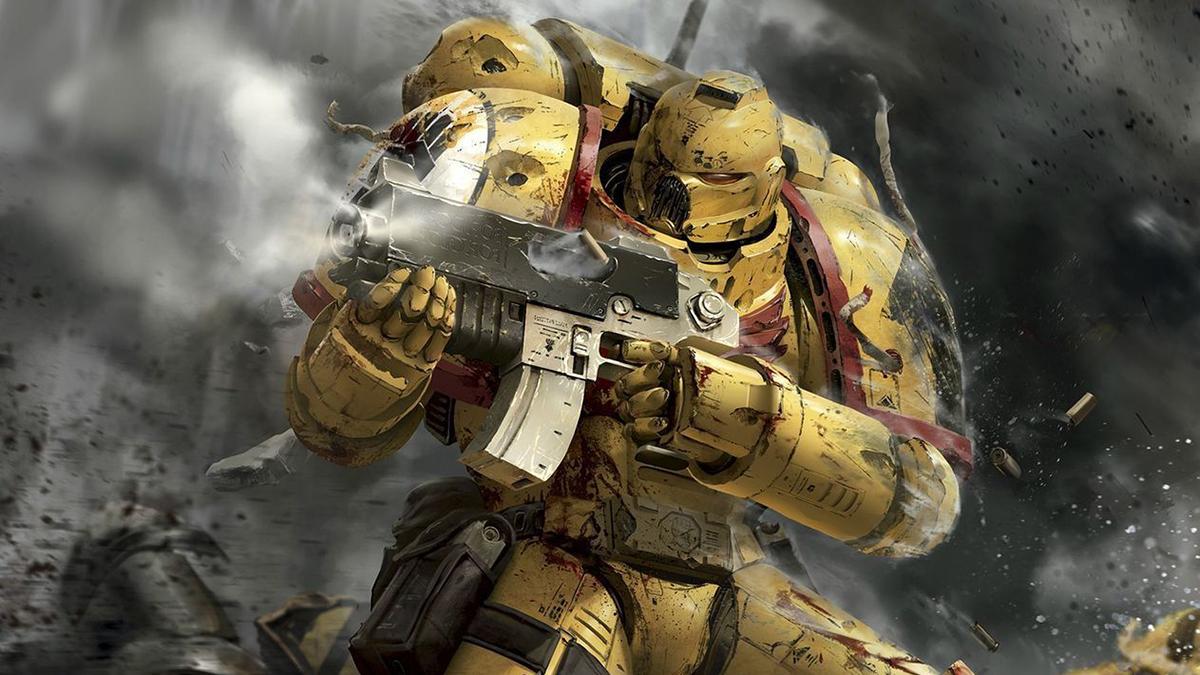 warhammer 40k yellow marine