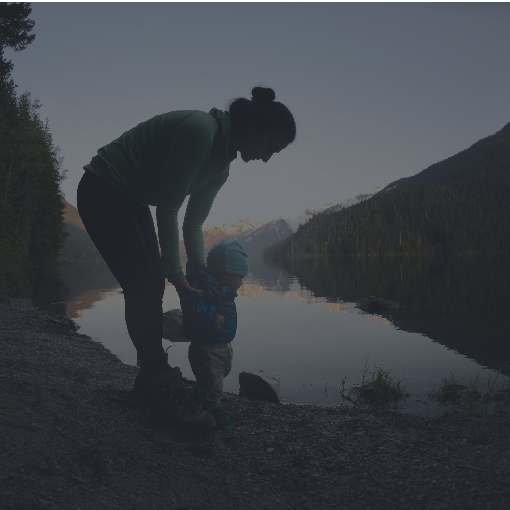woman and child outdoors