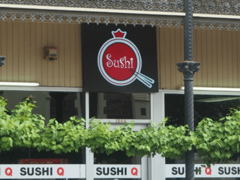 Outside of Sushi Q Restaurant