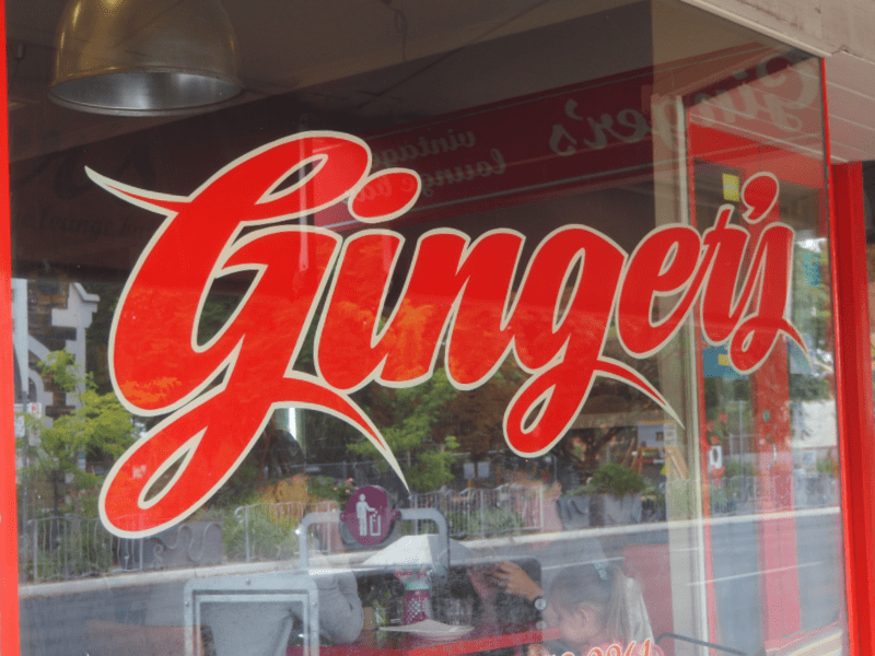 Gingers Coffee Studio window