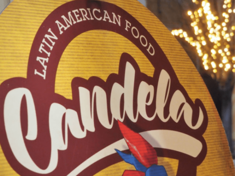Candela Latin American Food sign