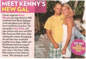 Kenny Chesney in magazine