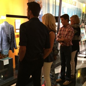 Luke Bryan checking out the exhibit