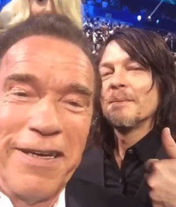 The one where Kellie Pickler photobombed Daryl Dixon and The Terminator