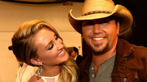 NASHVILLE, TN - JUNE 04:  Brittany Kerr and Jason Aldean attend the 2014 CMT Music Awards at Bridgestone Arena on June 4, 2014 in Nashville, Tennessee.  (Photo by Rick Diamond/Getty Images for CMT)