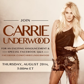 Carrie Underwood to make special announcement this Thursday