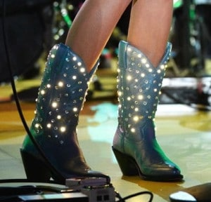 Kacey Musgraves light up boots