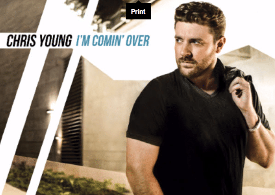 "Chris Young Reveals ""I'm Comin' Over"" Track List"