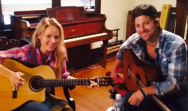 Kip Moore and Jewel Working on a Gem Together