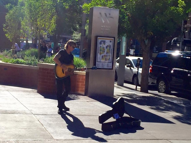 Keith Urban performs on the streets of Denver