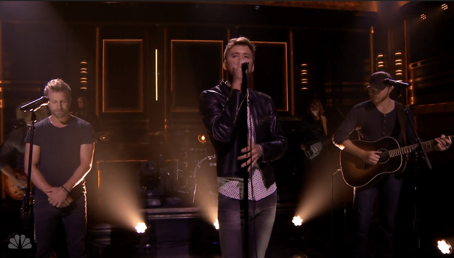 "Watch: Dierks Bentley and Eric Paslay join Charles Kelley for late night debut of ""The Driver"""