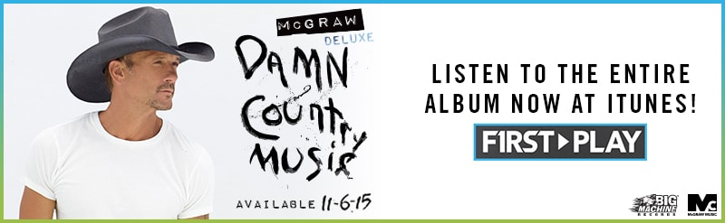 Listen to all of Tim McGraw's 'Damn Country Music' now