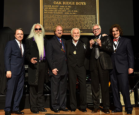 The Oak Ridge Boys inducted into the Country Music Hall of Fame