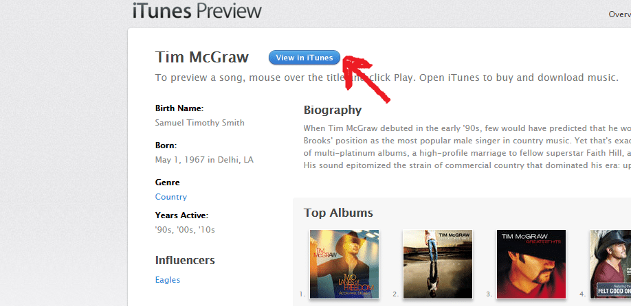 Tim McGraw iTunes