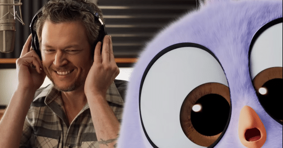 Blake Shelton friends from angry birds movie