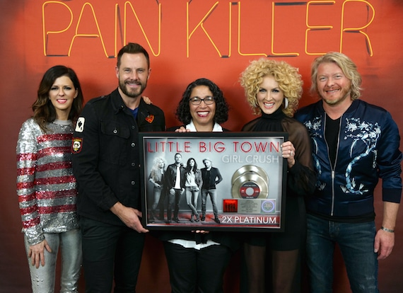 """Little Big Town Surprised with Double-Platinum Plaque for """"Girl Crush"""""""