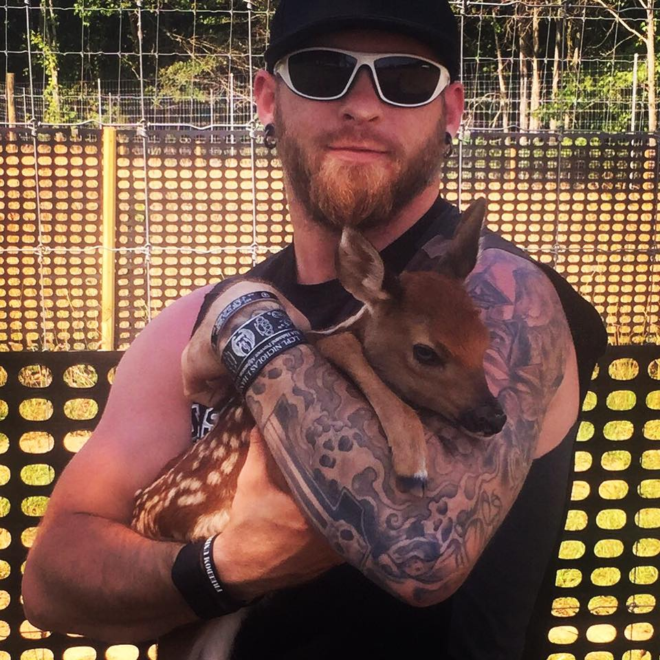 Brantley Gilbert and baby deer