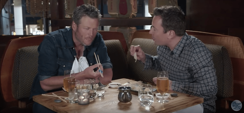 Blake Shelton Trying Sushi is the Best Thing You'll Watch Today
