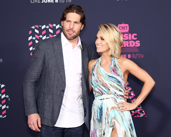 Carrie Underwood has the look of love on the CMT Music Awards red carpet