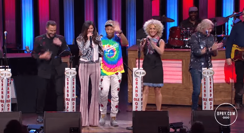 Watch Pharrell Williams join Little Big Town at the Grand Ole Opry