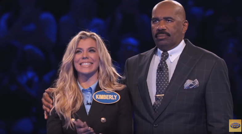Holy smokes! Watch Kimberly Perry kick some ass on Celebrity Family Feud