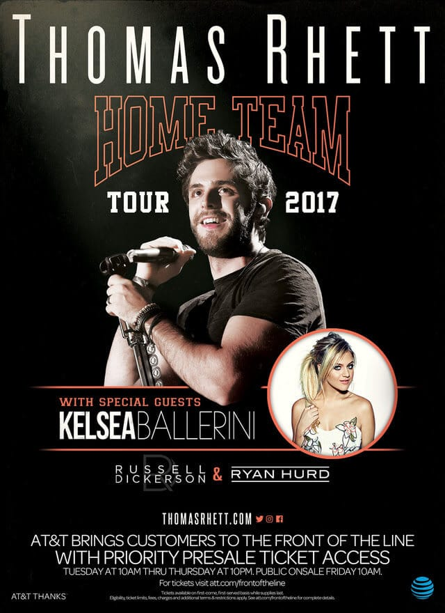 Thomas Rhett heads out on headlining tour with Kelsea Ballerini