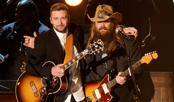 Let's throw it back to Chris Stapleton and Justin Timberlake's CMA performance