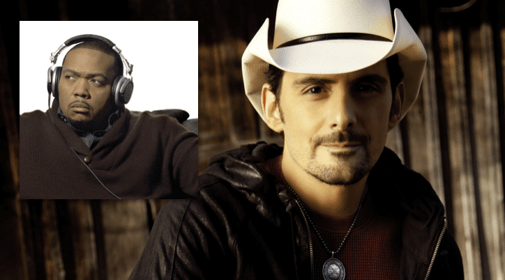 Brad Paisley teams up with famed producer Timbaland