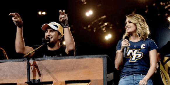 Surprise! Carrie Underwood Showed Up at Luke Bryan's Nashville Show