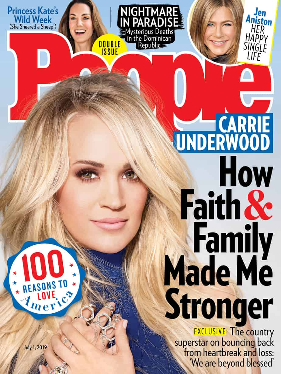 Carrie Underwood covers People Magazine's 100 Reasons to Love America issue