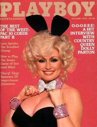 Dolly on the cover of Playboy ranks tops