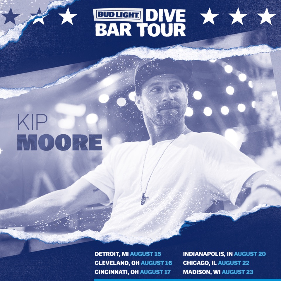 Kip Moore launches new Dive Bar Tour