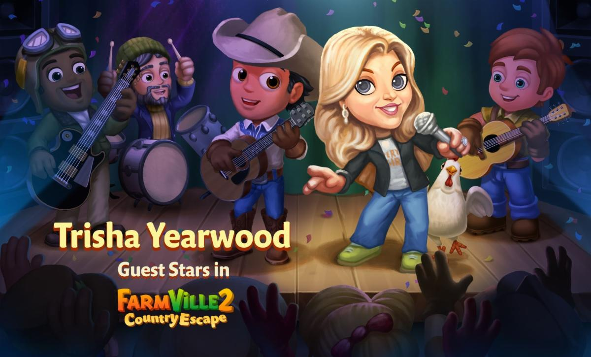 New Trisha Yearwood FarmVille 2 character coming September 9